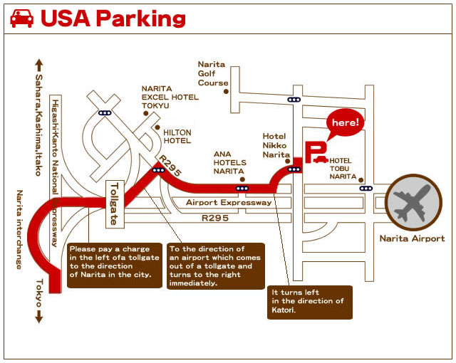 Narita Airport Parking USA Parking Map